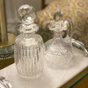 Set of two Glass bottles